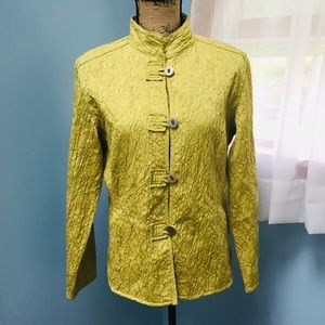 Chico's Chartreuse Textured Jacket